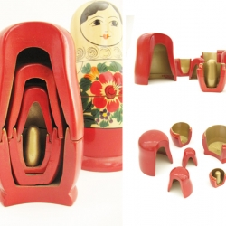 Matryoshka, taking a different look at the inside of the traditional Russian nesting doll from Inon Rettig.