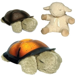 Another series of gifts for new parents ~ the Twilight Turtle and the Sleep Sheep ~ the turtle is  has different colors and projects constellations ~ and the sheep make whale, heartbeat, rain, surf sounds...