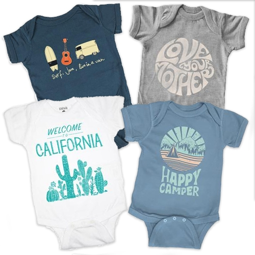Feather 4 Arrow baby onesies and t-shirts for kids (and a select few for matching adults)