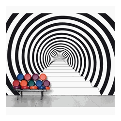 Down the Rabbit Hole is an extra-large vinyl wall decal that's capable of inducing vertigo. 