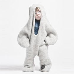 The Baby Seal designed 2006 by Vík Prjónsdóttir, 100% Icelandic wool, one size. [see adult version featured in #29362]