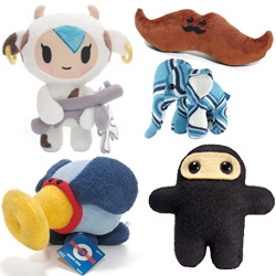 Toys have come full circle ~ from toys being for kids ~ to toys being for grown ups ~ vinyl toys and characters are being transformed back into plushes for the kids! Here's a fun list of baby friendly stuffed toys for gifting!