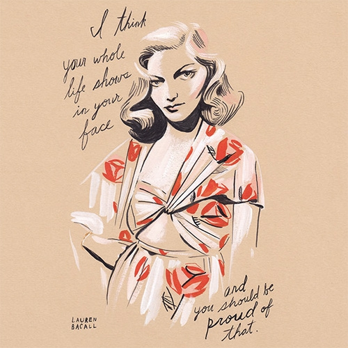 Revival, a series of style icons. A great series of illustrations from Libby Vander Ploeg in conjunction with Dusty Rose Vintage showing women whose style and thinking has had a lasting influence on our culture.