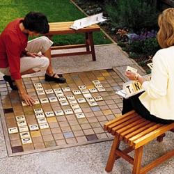 DIY Backyard Scrabble project from Sacramento architect Kristy McAuliffe.
