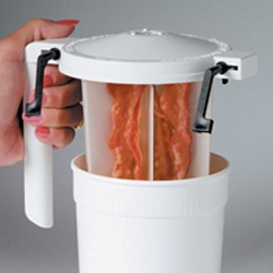 Wow Bacon ~ microwave cooker, that looks like a pitcher...