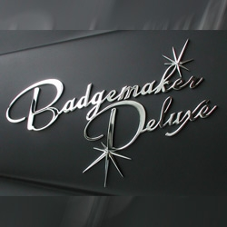 Badgemaker Deluxe are hand made vintage looking chrome emblems, for your custom hotrod or scooter