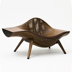 "Beautiful ""Steam_11"" walnut chair by Korean artist Bae Se Hwa will be part of Gallery Seomi's exhibit at Design Miami Basel 2010."