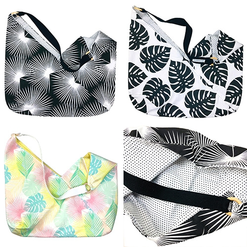 Kitty Toronto Tote Bags - easily packable, washable, and feature their bold, custom fabrics!