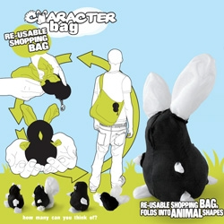 Suck UK Reusable Shopping Character Bag ~ no it's not just another reusable bag that you can shove into a pouch... depending how you pull pieces out of the pouch you can invent your own creatures!