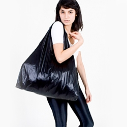 The American Apparel Medium Emergency Bag is my latest reusable bag to stick in my purse/car ~ love how versatile it is, big arm holes to go over my shoulder, 3 pockets inside, and folds up nicely into itself.