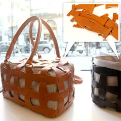 Pinneti's modular leather bags... are genius! So fun to have a series of products all made from the same modular unit of leather that you can evolve and build on!