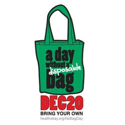 A Day Without A Disposable Bag  ~ Heal The Bay has proclaimed today No Plastic Bag Day! And to celebrate they will be giving away free reusable bags at various locations throughout LA today.