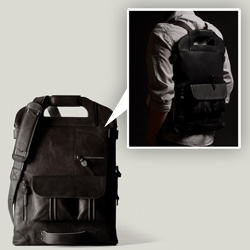 Hard Graft's 2Unfold Nero ~ third in the edition, this gorgeous laptop bag is now available in black!