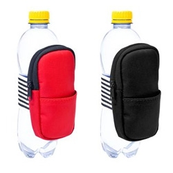 Bag on a bottle ~ designed by Maria Härdig ~ perfect for keys/phone when going for a walk/hike?