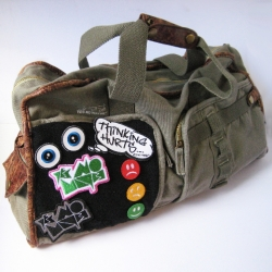 Brand new cabin bag from Yes No Maybe. Velcro panel and patches - go play!