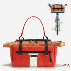 "Freitag's new F60 JOAN bag - ""Bicyclable thanks to two Velcro Straps that allow mounting the bag to your handlebars"""