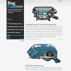 Bag Exposure is a new online magazine for photographers on the never-ending chase for the ever-elusive perfect camera bag.