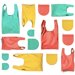 Baggu leather colors for spring are so fun and refreshing!