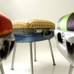 "sitbag chair and ottoman by ""maybeoriduct"",  turkish design team."