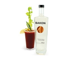Bakon Vodka, a superior quality potato vodka with a savory bacon flavor.