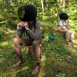 'In the Eyes of the Animal' by Marshmallow Laser Feast (aka Robin McNicholas, Barney Steel, and Adam Doherty) you experience the Grizedale forest through the eyes of animals via virtual reality in an awesome helmet!