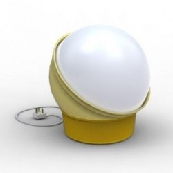 British designer James Michael Shaw will be exhibiting this quirky swiveling lamp called 'On the Ball' at the 100% Design event at Earls Court later this month.