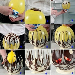 How to make a chocolate bowl using a balloon!