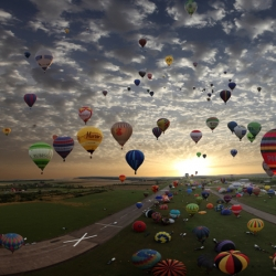 A beautiful collection of pics capturing the Loraine Mondial Air Balloon Rally held in Chambley France