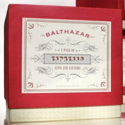 lovely packaging for Balthazar's gift set designed by Christine Celic Strohl at Mucca Design