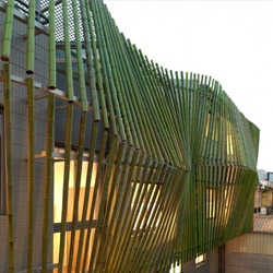 The Bamboo Forest House, by ROEWUarchitecture, is surrounded by a protective shell made from Bamboo.