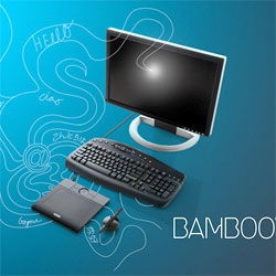 I admit i was totally premature on my first Wacom Bamboo post - must see all the different branding alterations they've done for the international launch of this tablet...