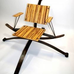 Richmond VA artist Christina Stratman makes the most comfortable chairs.