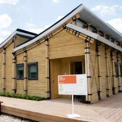 This amazing BAMBU HOUSE was just unveiled at the European Solar Decathlon in Madrid. It is almost completely made from bamboo, is totally powered by the sun and was designed by a team of 20 from the Tanji University in Shanghai.