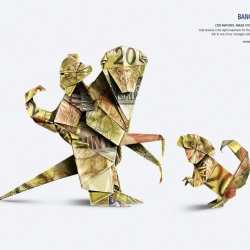 New ads from Maone bank by advertising agency DCS, Porto out of Alegre, Brazil and art director Gregory Kickow. Love the use of origami in these ads.