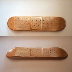 Band-deck: Thinkmo decided to turn his skateboard into a band-aid.