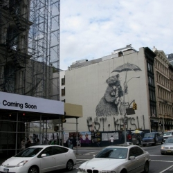 Another giant Banksy Rat in SoHo was put up today