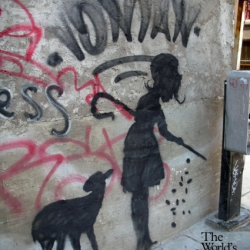 A New Banksy piece was spotted in NYC, plus a brief recent history of spottings of Banksy's work in the Five Boroughs.