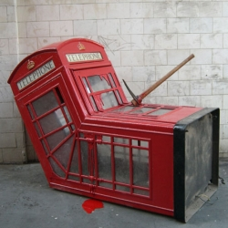 bansky murdered a phonebooth...