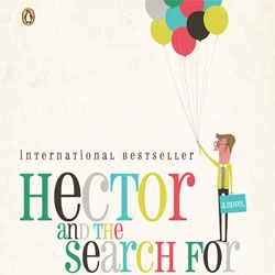 """The book cover for Francois Lelord's """"Hector and the Search for Happiness"""" by Andrew Bannecker"""