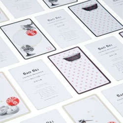 Cute packaging for Bao Bei Chinese Brasserie by Glasfurd & Walker.