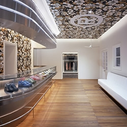 Bape stores are always pretty lavish affairs this years Harajuku addition is designed as a 'town within a building' and has a 50's diner theme.....