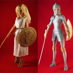 Faire Play is a kickstarted Barbie-Compatible 3D Printed Medieval Armor. This project is a 3D printed suit of plate mail you can print yourself.