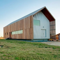 Barndominium in Chappel Hill, Texas by Logan and Johnson Architects.