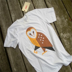 The Barn Owl, a limited run tee shirt by the design collective Always With Honor. A portion of every order gets donated to the Portland Audubon Society.