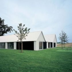 Fabien Baron's summer home in rural southern Sweden, designed by John Pawson.