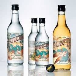 Cute packaging for Barracuda Rum by Neumeister.
