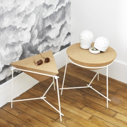 Tables BASIL are designed by Arthur LEITNER x PETITE FRITURE.