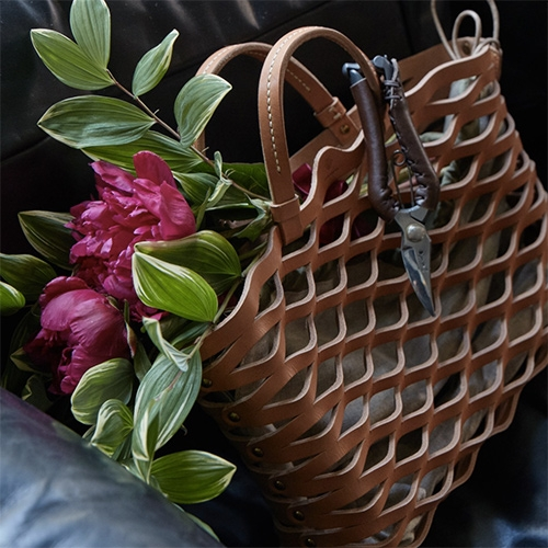RW Guild Woven Leather Baskets by Teha'Amana. Handmade in Japan.