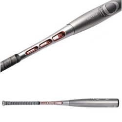 Reebok Vector O Bat ~ apparently this new high tech bat reduces drag, has one of the stiffest handles around, uses a special alloy/composite performance matrix, and has an extended barrel profile...
