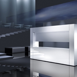 German company Alape specializes in modern and minimalist aesthetics for bathroom design and remodeling projects. Their combination of lighting and surface textures are really amazing.